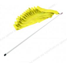 Лента гимнастическая 6м. с палочкой 48см. F11753-6M Yellow