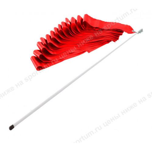 Лента гимнастическая 6м. с палочкой 48см. F11753-6M Red