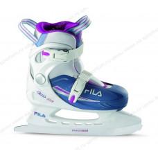 Коньки детские (раздвижные) FILA J-ONE ICE HR White/Light Blue